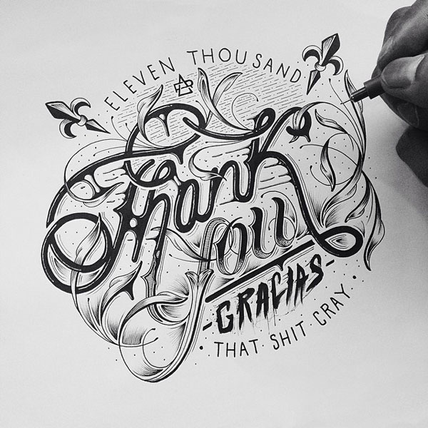 Beautiful hand lettering by Raul Alejandro