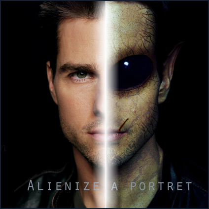 Alienize Transform a person into an alien