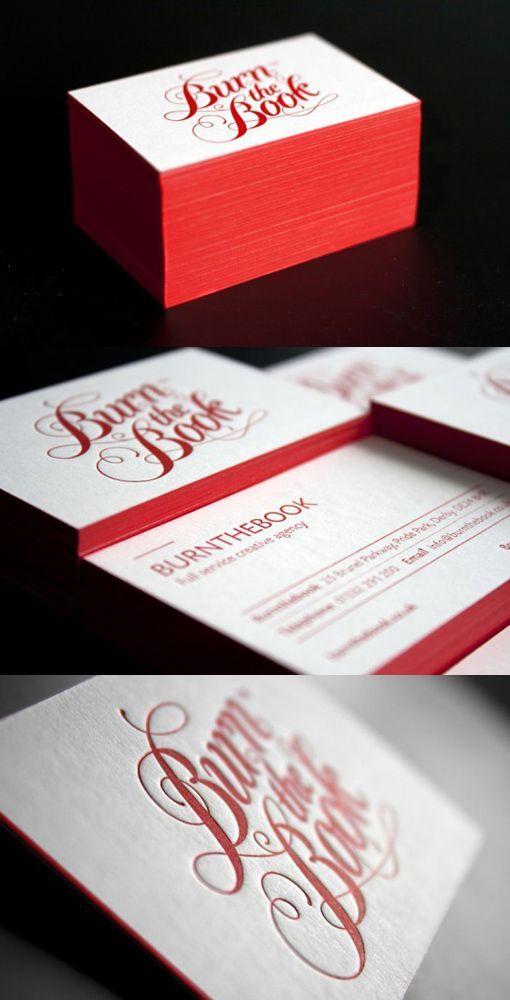 BurnTheBook Letterpress Cards