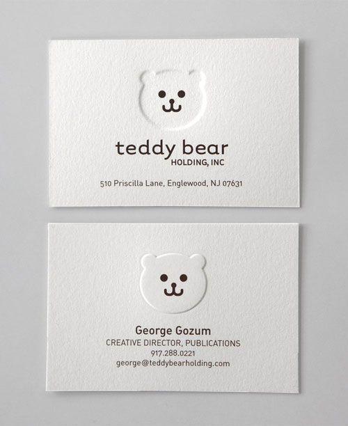 Business Card for Teddy Bear