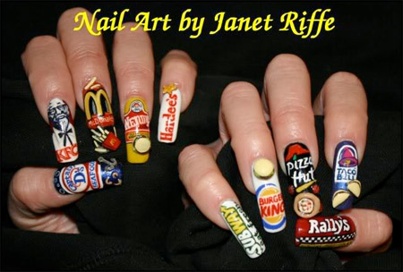 10 examples of amazing nail art designer daily graphic and web fast food nails prinsesfo Images