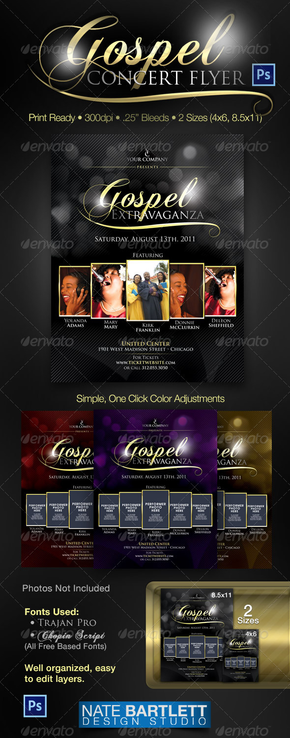 excellent flyer templates for your next event designer daily gospel flyer
