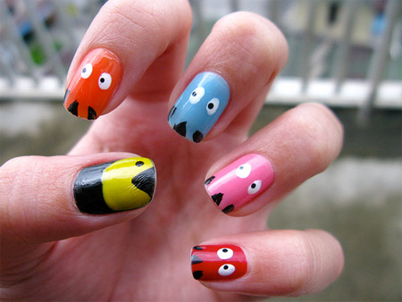 10 examples of amazing nail art designer daily graphic and web pac man nails prinsesfo Gallery