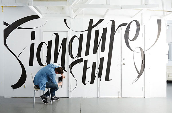 Great lettering on all surfaces by Ben Johnston