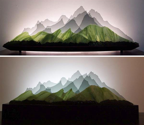 Customizable 3D layered glass sculptures