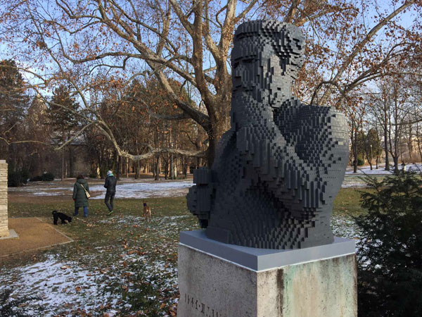 Lego replaces two stolen statues in Hungary