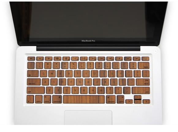 wood keys for mackbook