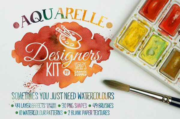 Create realistic watercolour paintings in Photoshop with the Aquarelle bundle