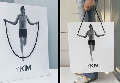 A fitness-inspired shopping bag.