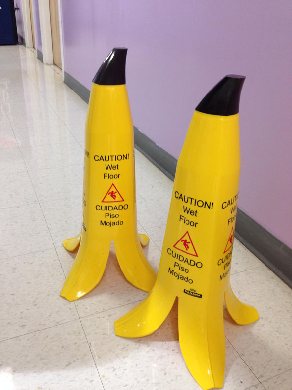Banana-Shaped Caution Cones