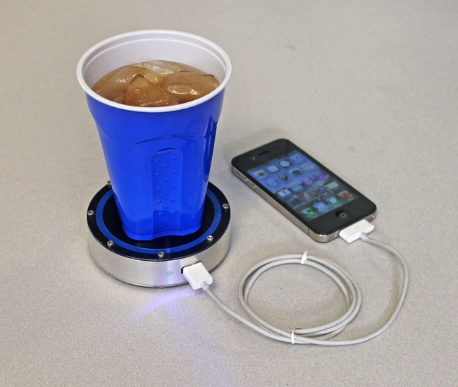 Charge your phone with a cold beer
