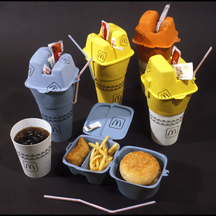 Compartmentalized fast food packaging