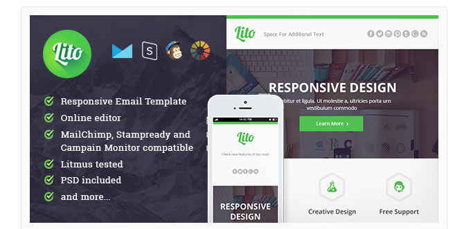 Responsive Email Newsletter Templates - Daily newsletter template
