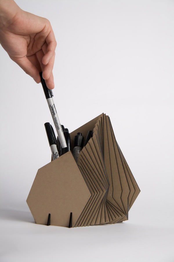 10 Cool Ideas To Recycle Useless Cardboard: cool pencil holder ideas