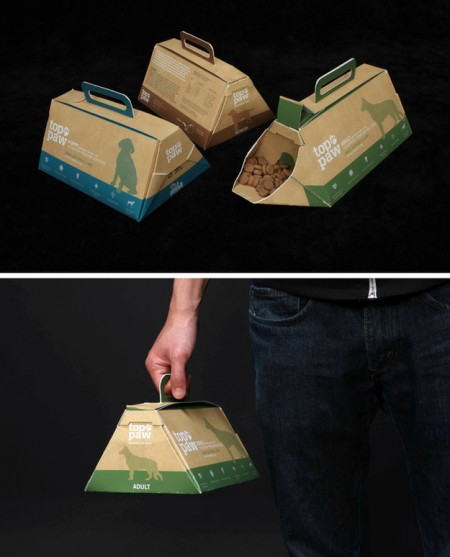 Portable dog food packaging