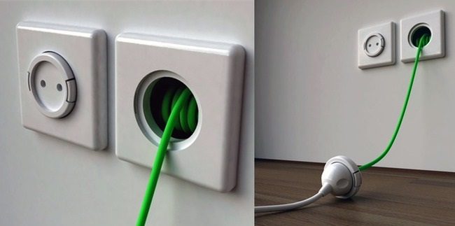 RECOILING POWER SOCKET