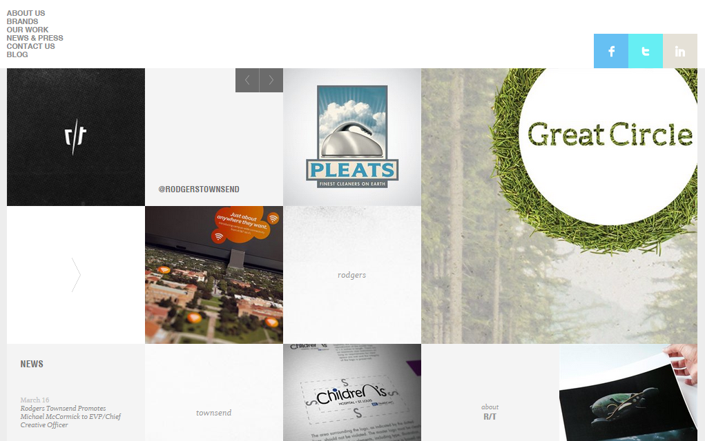 10 good examples of grid-based web design