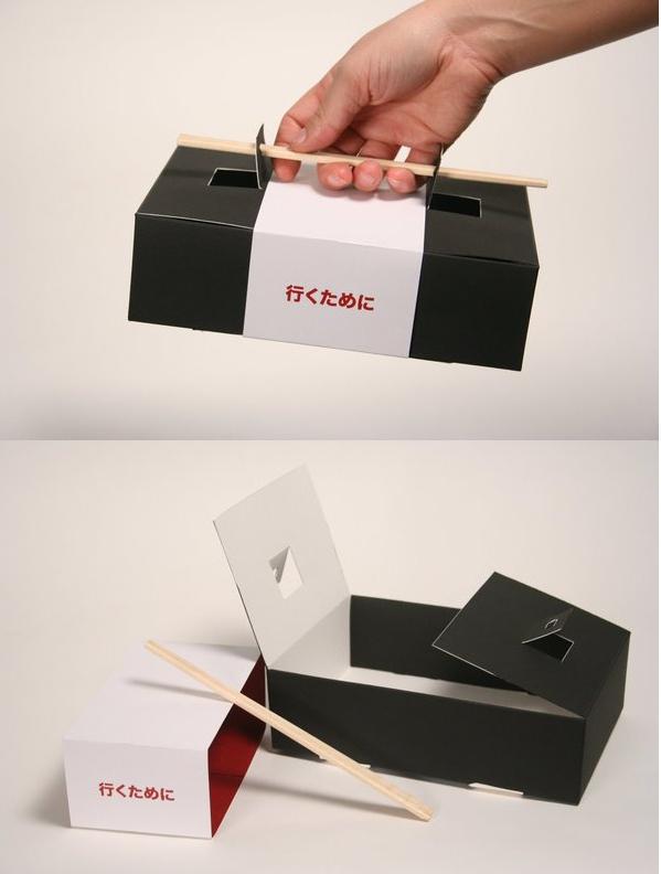Sushi to-go box