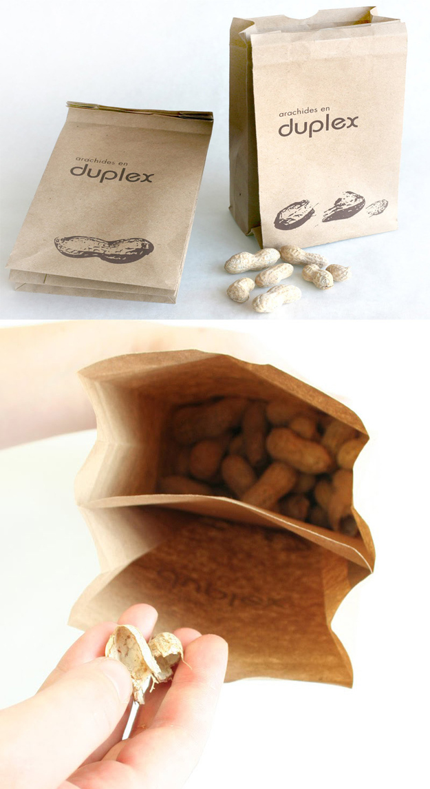 a double bag for peanuts