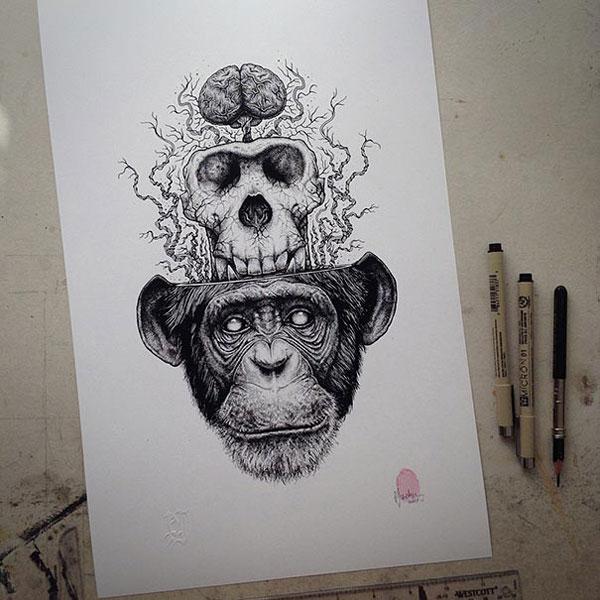 eerie-gruesome-gothic-black-white-animal-skull-art-paul-jackson-15