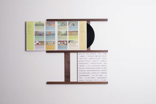A Clever Frame For Vinyl Display