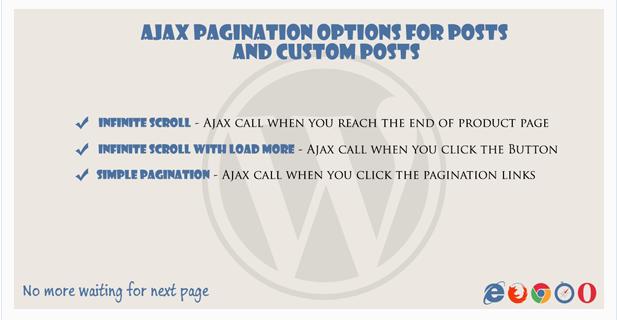 Ajax pagination Infinite Scroll