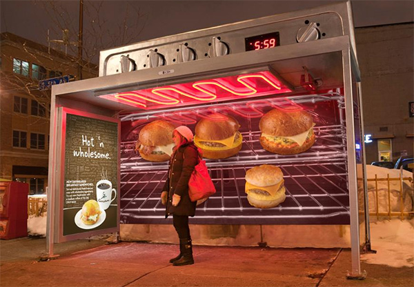 Caribou Coffee Ovens out of Transit Shelters