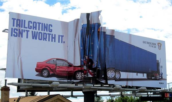 Colorado State Patrol Billboard Collision