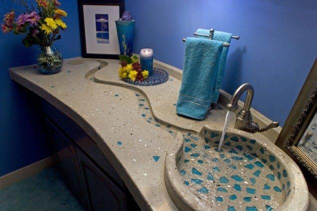 Beautiful Concrete bathroom sinks