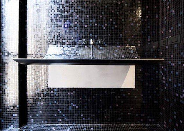 Mosaic tile sink