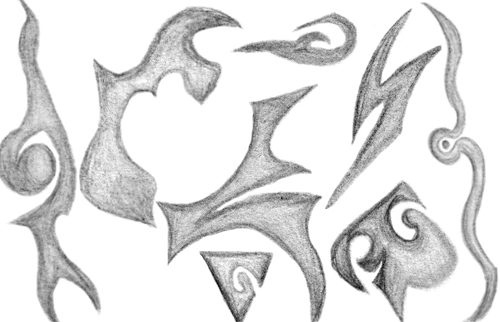 Pencil Shapes Brush Set