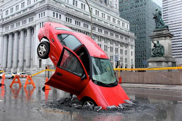 Pothole Season Stunt