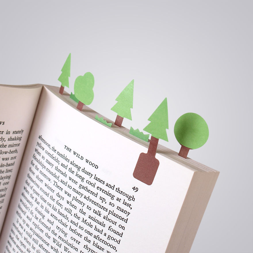 Bookmark landscapes in your books