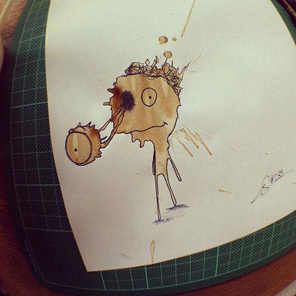coffee-stain-doodle-monsters-coffeemonsters-stefan-kuhnigk55