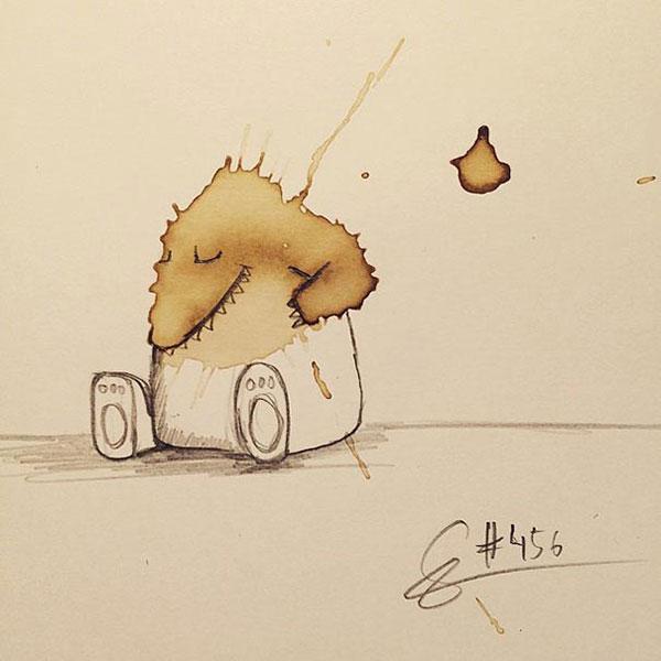 coffee-stain-doodle-monsters-coffeemonsters-stefan-kuhnigk65
