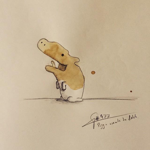 coffee-stain-doodle-monsters-coffeemonsters-stefan-kuhnigk79