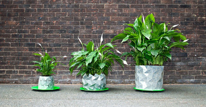 A responsive planter that grows with your plants