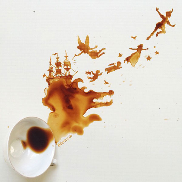 Spectacular paintings created using spilled food