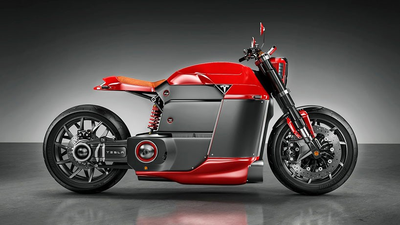 A Tesla motorbike concept by Jans Shlapins