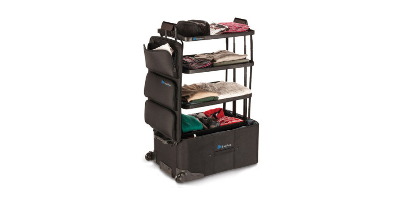 ShelfPack: The suitcase that turns into a mobile shelf