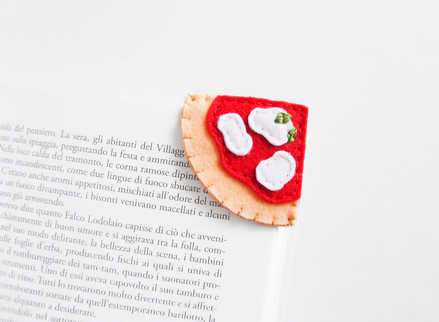 Tiny bookmarks that look like food