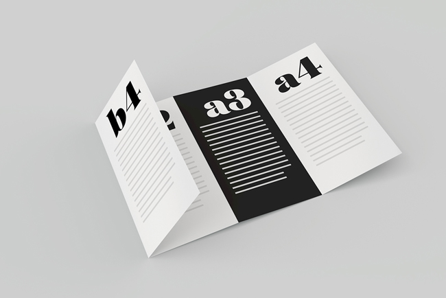 A collection of free psd brochure mockups for Four page brochure template