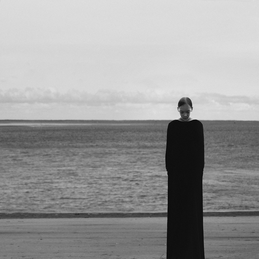 Noelle Oszvald takes surreal self-portraits in black and white