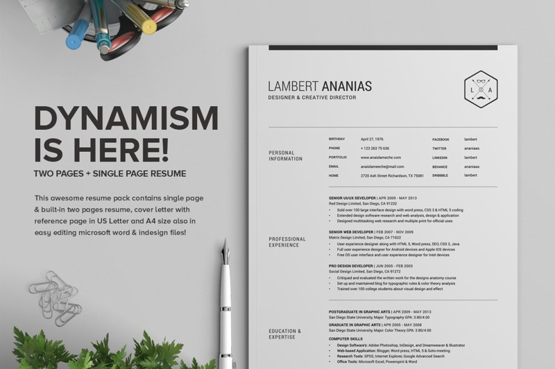2-pages-resume-pack