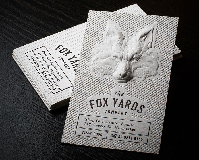 Stunning 3D embossed business cards