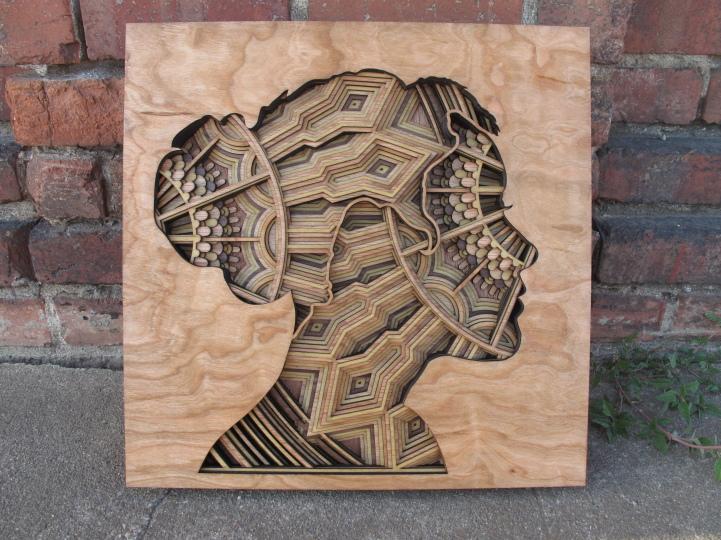 Spectacular laser cut wood art by Gabriel Schama