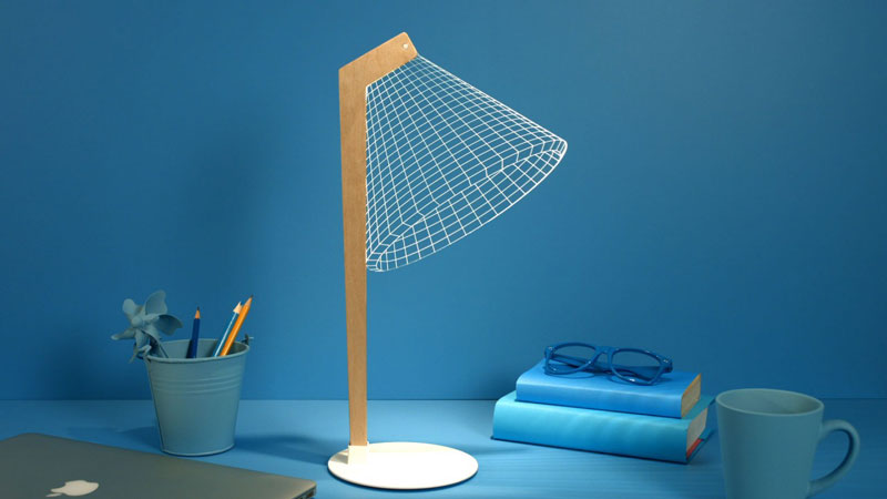 Flat lamps that pretend to be tri-dimensional
