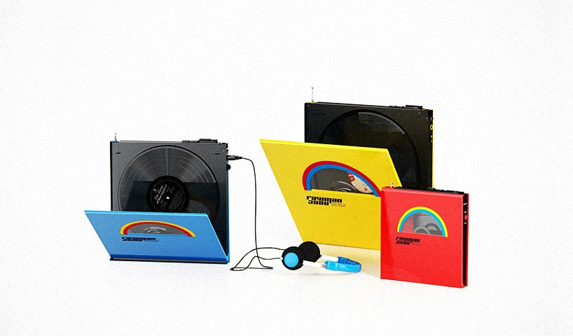 Rocket and wink's portable vinyl player