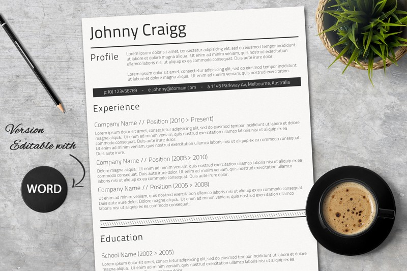 word-resume-layout