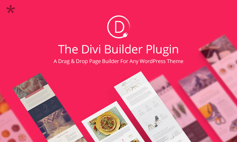 Divi Builder: a drag-and-drop page builder plugin for WordPress